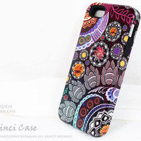 Paisley iPhone 5 5s case - Mehndi Garden - Purple Floral iPhone TOUGH case