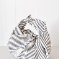 Japanese Kitchen Furoshiki - Gray Ticking