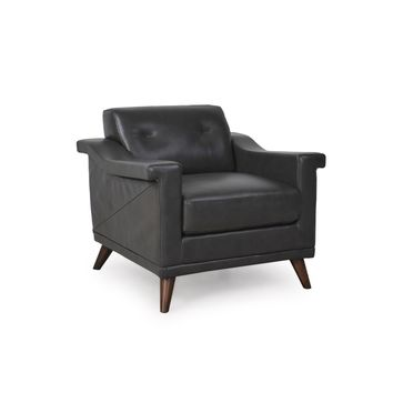 Kak Mid-Century Chair Charcoal Grey