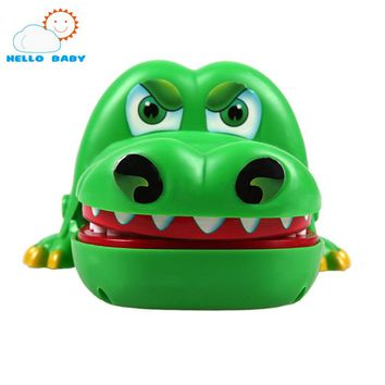 lovely cute Green high quality Large Crocodile Mouth Dentist Bite Finger Game Funny Toy Gift Funny Gags Toy Novetly for children