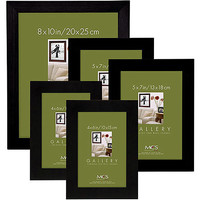 Walmart: Flat Top Wood Black Picture Frame Set, Set of 5