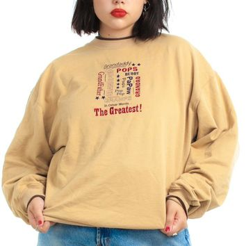 Vintage 90's Greatest Gramps Sweatshirt - One Size Fits Many
