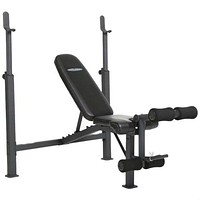 Steel Frame Weight Bench with Adjustable Height Bar Chest Press