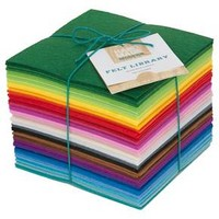 Assorted Colors Felt Library 56ct - Hand Made Modern