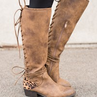 Boise Cheetah Backing Boots (Tan)