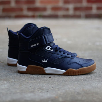 best sneakers 0973a 60251 Supra - Bleeker - Blue Nights   White from For Rent Shoes   Crew