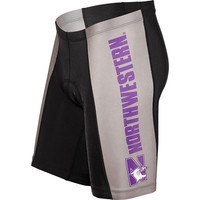 Northwestern Wildcats NCAA Flat Seam Cycling Shorts