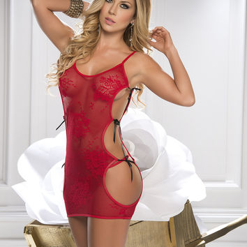 Red Hot Baby Doll Set-Lingerie