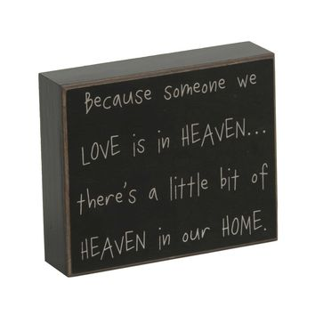Heaven In Our Home Wooden Plaque | Kirklands