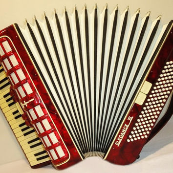 Accordion Instrument Musical Instrument  FIROTTI ELEGANCE III 120 bass. Very Beautiful Rare German Piano Accordion. 275