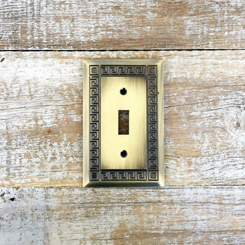 Light Switch Cover Lightswitch Plate Mid Century Light Switch Cover Hollywood Regency Brass Outlet Cover Home Improvement Supplies