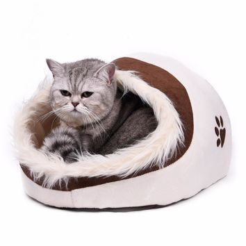 Lovely Soft Pet Cat Cave Bed & Cushion High Quality
