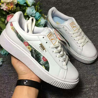 Fashion PUMA Women Print Flower Casual Running Sport Shoes Sneakers
