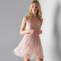 AEO Beaded Tulle Slip Dress