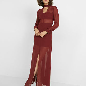 Halter V-Neck Maxi Dress
