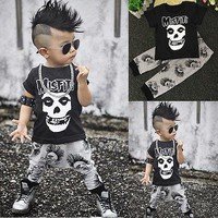 Fashion Baby Boy Clothes Sets Summer Short Sleeve Toddler Kids Tracksuit Casaul Tops Long Pants 2pcs Outfits Sets