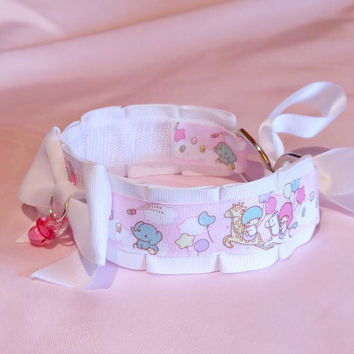 Little Twin Stars DDLG/Pet Play Collar by Kitten's Castle