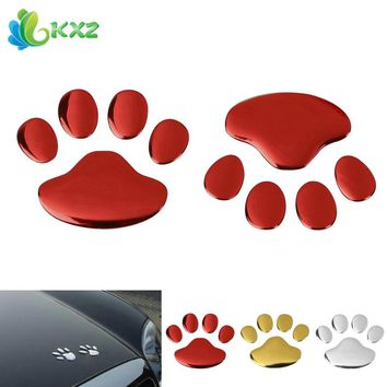 5pairs! 3D PVC Auto Car Sticker and Decals Dog Paw Footprint Nick Cover Sticker Car Styling Decoration