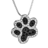 Dog Paw Crystal Necklace