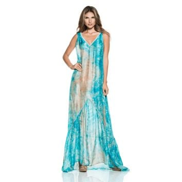 Ondademar Conga Silk Tie Dye Dress