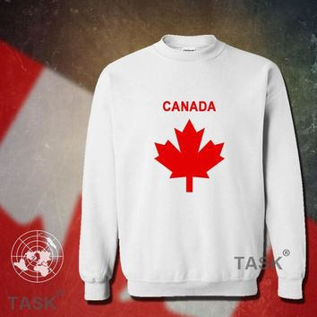 Canada hoodie men sweatshirt sweat new hip hop streetwear socceres jerseyes footballer tracksuit nation Canadian flag fleece CA