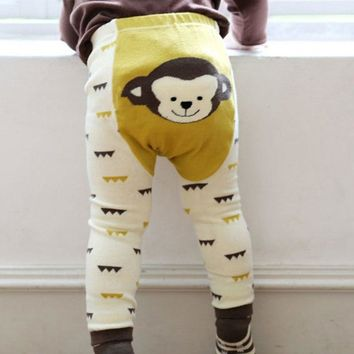 Cute Toddler Bottoms Set Boy Girls Baby Cartoon Soft Print Legging Warm PP Pants Stocking