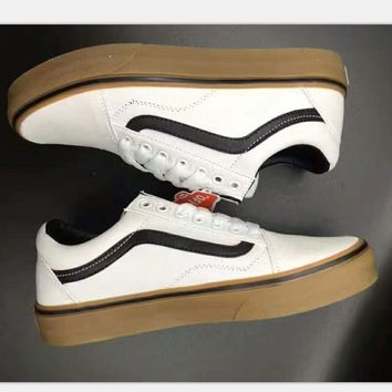 Vans Old SKOOL sports shoes Casual shoes white-khaki soles H-PSXY