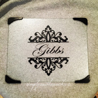 Personalized Cutting Board - Monogrammed Cutting Board - Glass Cutting Board - Wedding Gift - Couples Gift - Hostess Gift - Teacher Gift