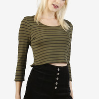 Olivia Striped Crop Top