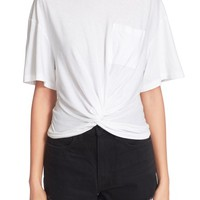 T by Alexander Wang Twist Front Jersey Tee | Nordstrom