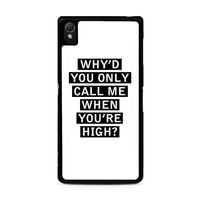 Personalised AM song lyrics Sony Xperia Z3 Case
