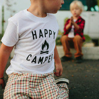 Happy Camper Children's t-shirt by The Bee & The Fox, Made in USA SIZE 4