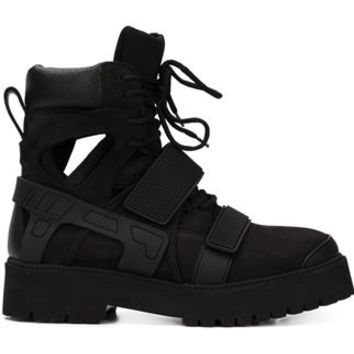 Hood By Air Velcro Fastening Ankle Boots - Hirshleifers - Farfetch.com