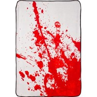 BLOOD SPLATTER FLEECE THROW