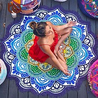 Mandala Tapestry Round Throw Sheet
