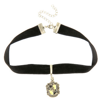 Harry Potter Hufflepuff Black Velvet Choker