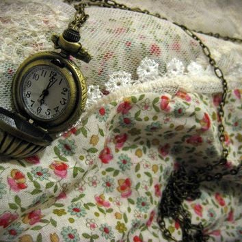 The World on a String Pocket Watch Necklace by sodalex on Etsy