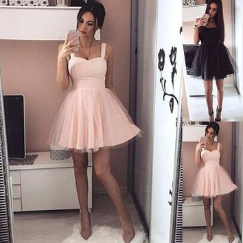 2018 Summer Fashion Women Sexy Petticoat Elegant Sleeveless Tulle Dress Evening Wedding Dress Party Dress