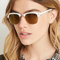 Mirrored Browline Sunglasses
