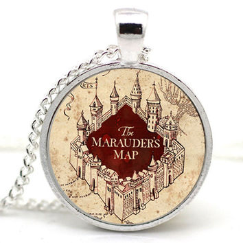 PROMO SALE Harry Potter Marauder's Map Necklace