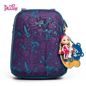 Authentic Delune 2017 school backpack children for girls little Children school bags kids for boys bears backpack child motor 3D