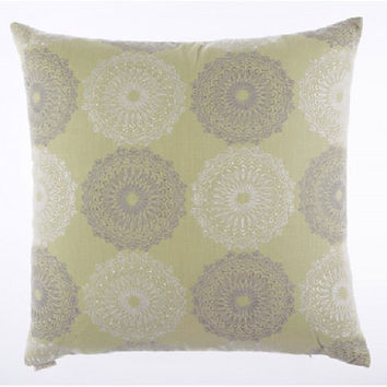 Canaan Company 2160 Silly Dilly Embroidered Linen 24 x 24 Pillow