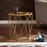 Gabrielle Mirrored End Table