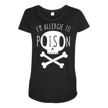 allergic to poison Maternity Scoop Neck T-shirt