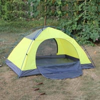 Outdoor Camping Hiking Two Person Tent Yellow - Default
