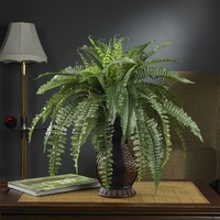 SheilaShrubs.com: Boston Fern w/Urn Silk Plant 6629 by Nearly Natural : Artificial Flowers & Plants