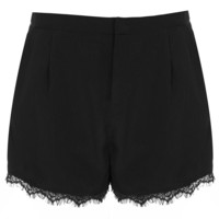 Black Lace Trim Shorts - Topshop