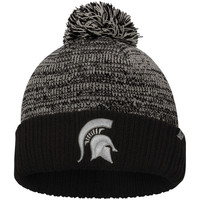 Men's Top of the World Charcoal/Black Michigan State Spartans Dense Cuffed Pom Knit Hat
