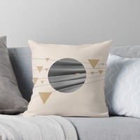 'Abstract Composition 04' Throw Pillow by nileshkikuchise