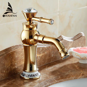 Beautiful Deck Mounted Single Handle Counter Top Basin Faucet Antique Brass Hot Cold Water Bathroom Mixer Taps 328